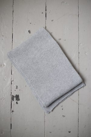 Le Bonnet Grey Marl Lambswool Scarf