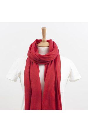 Yunion T Herringbone Wool Scarf Fire Red & Hot