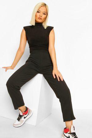 Boohoo Womens Petite Split Hem Dress Pants - - 4