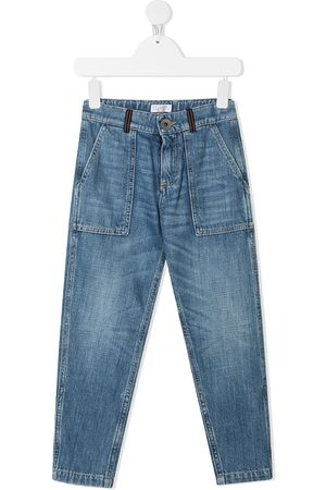 Brunello Cucinelli Kids Boys Jeans - Faded wash jeans