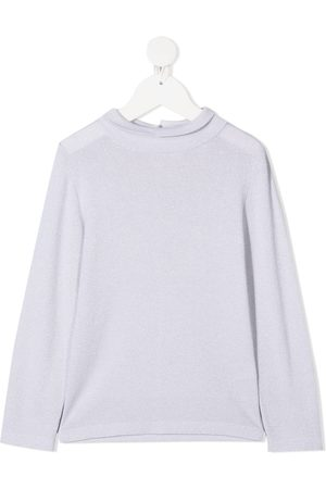 Brunello Cucinelli Long-sleeved knitted T-shirt - Grey