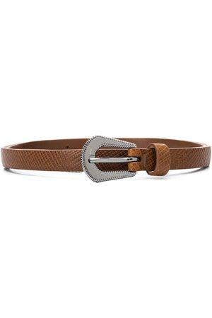 Brunello Cucinelli Girls Belts - Textured leather belt