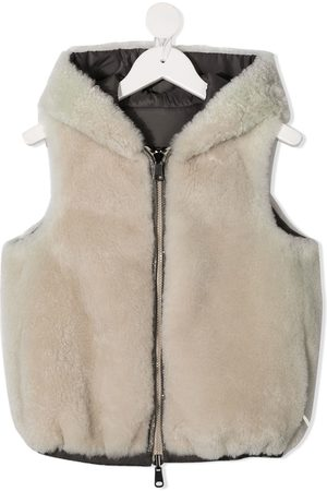 Brunello Cucinelli Faux fur hooded gilet