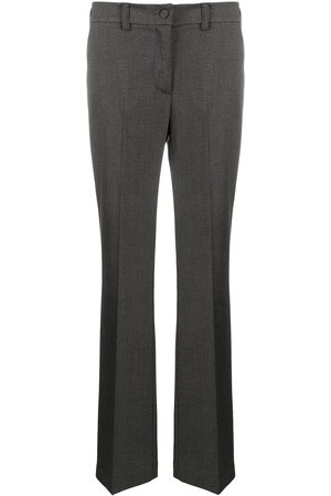 HEBE STUDIO Straight leg trousers - Grey