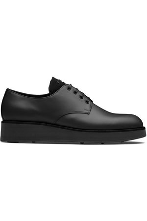 Prada Brushed-effect Derby shoes