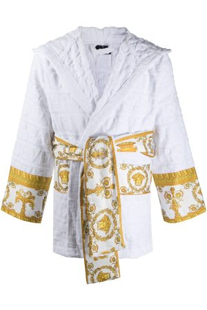 VERSACE Barocco-print logo devoré short robe