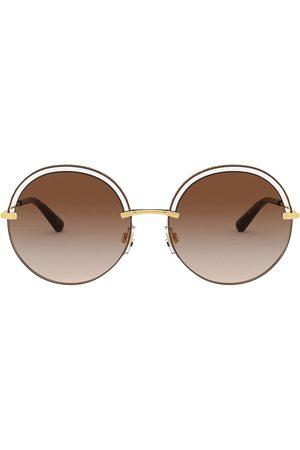 Dolce & Gabbana Cut-out detail round sunglasses