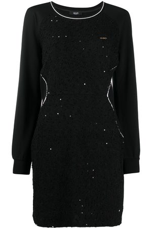 Liu Jo Women Sweatshirts - Sequin-embellished sweatshirt dress