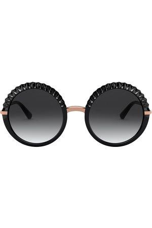Dolce & Gabbana Plissé round-frame sunglasses