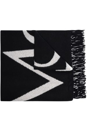 More Joy Large jacquard logo scarf