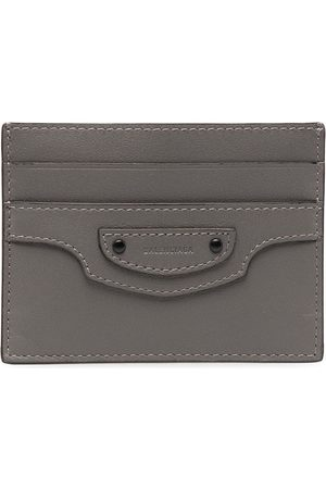 Balenciaga Women Purses - Logo patch cardholder - Grey
