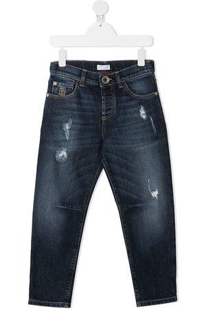 Brunello Cucinelli Distressed-effect straight-leg jeans