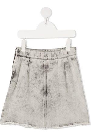Le pandorine Stonewashed denim skirt - Grey