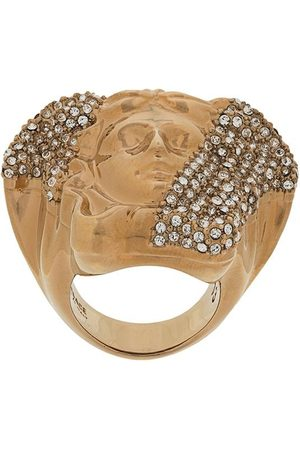 VERSACE Rings - Crystal-embellished Medusa ring