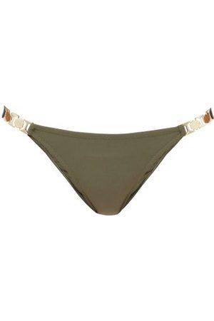 Melissa Odabash Athens Chain-link Strap Bikini Briefs - Womens - Dark