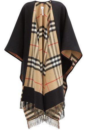 Burberry Women Ponchos & Capes - Giant-check Cashmere And Wool-blend Cape - Womens