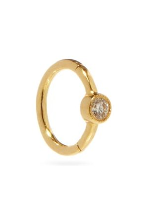 Maria Tash Diamond & 18kt Single Huggie Earring - Womens