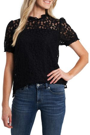 CE&CE Women's Puff Sleeve Petal Lace Blouse