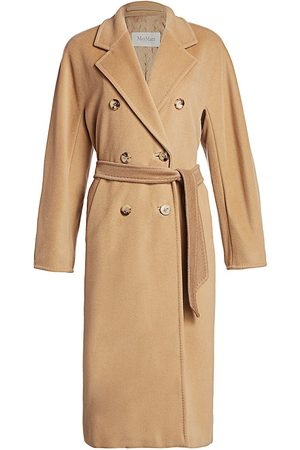 Max Mara Women's Madame Wool & Cashmere Belted Wrap Coat - - Size 0