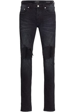 Purple Brand Men's P002 Blowout Knees Distressed Jeans - - Size 34