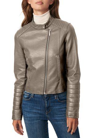 Bernardo Women's Faux Leather Racer Jacket