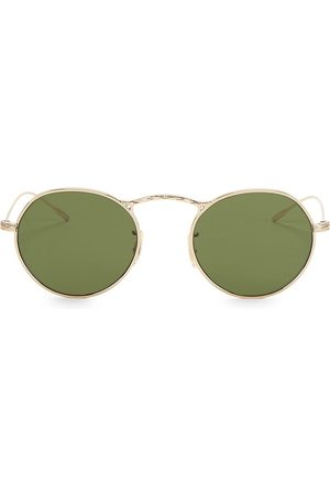 Oliver Peoples M-4 30th 47MM Twisted Metal Round Sunglasses