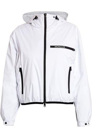 Moncler Women's Adara Hooded Nylon Windbreaker Jacket - - Size 4 (XL)