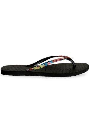 Havaianas Women's Slim Tropical Straps Flip Flops - - Size 5