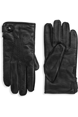 Saks Fifth Avenue Men's COLLECTION Leather Touch Tech Gloves - - Size Medium