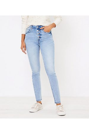 LOFT Women High Waisted - High Waist Skinny Jeans in Authentic Light Indigo Wash