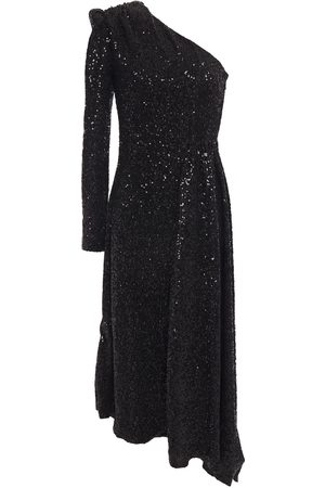 Rebecca Vallance Woman Asymmetric One-shoulder Sequined Tulle Midi Dress Size 10