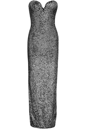 Naeem Khan Woman Strapless Sequin-embellished Tulle Gown Gunmetal Size 10