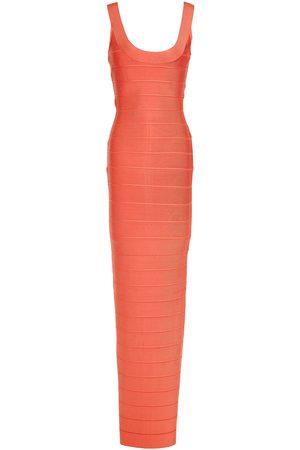 Hervé Léger Hervé Léger Woman Bandage Gown Peach Size L