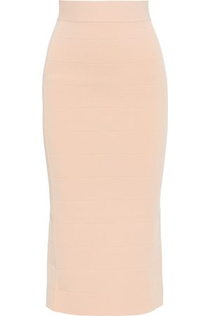 Hervé Léger Hervé Léger Woman Bandage Midi Skirt Peach Size L