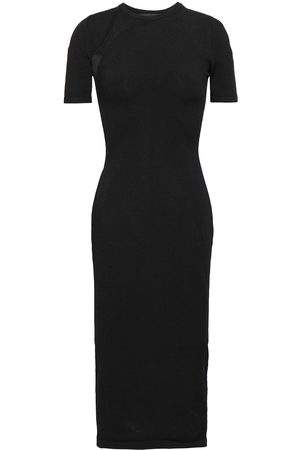 Cushnie Woman Mesh-paneled Stretch-knit Dress Size XS