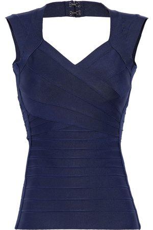 Hervé Léger Hervé Léger Woman Cutout Bandage Top Midnight Size XXS