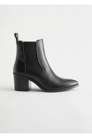 & OTHER STORIES Heeled Leather Chelsea Boots