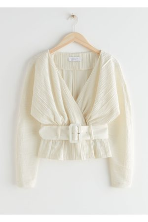 & OTHER STORIES Belted Dolman Sleeve Wrap Blouse