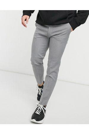 Topman Sweatpants with mini check in black-Multi