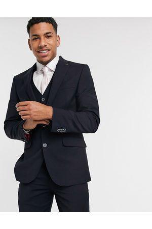 Harry Brown Slim fit plain suit jacket in navy