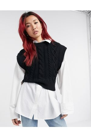 & OTHER STORIES & wool cable knit tank in