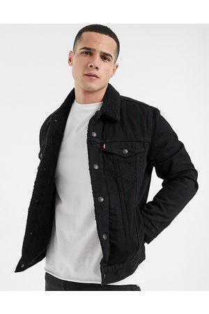 Levi's Men Fleece Jackets - Type 3 fleece lined denim trucker jacket in berk