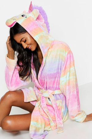 Boohoo Womens Rainbow Ombre Unicorn Robe - - S