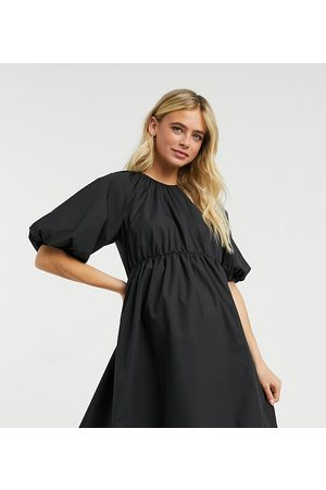 ASOS ASOS DESIGN Maternity cotton poplin smock mini dress in