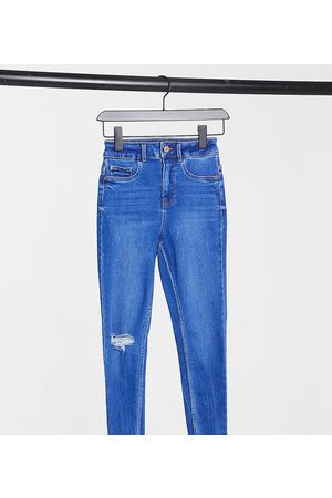 New Look High waist disco jeans in bright