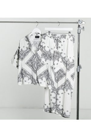 ASOS ASOS DESIGN Maternity scarf print short sleeve shirt & pant pajama set in