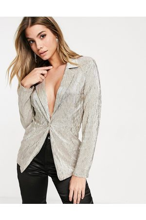 ASOS Blazers - Jersey sparkle suit blazer in