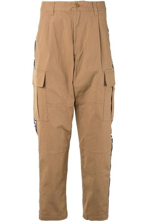 A BATHING APE® Logo-tape cargo trousers