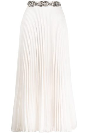 Christopher Kane Women Pleated Skirts - Crystal-embellished pleated skirt