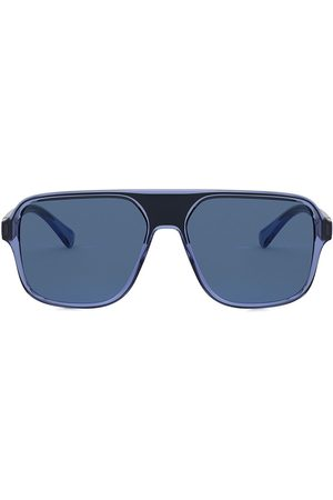 Dolce & Gabbana Step injection aviator-frame sunglasses